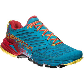 La Sportiva Akasha Running Shoes Herren tropic blue/cardinal red